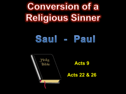 Conversion of a Religious Sinner