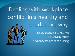 Dealing with workplace conflict in a healthy and productive way