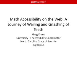 Accessible Math on the Web - Kraus