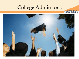 ramp-up to readiness/act college admissions power point
