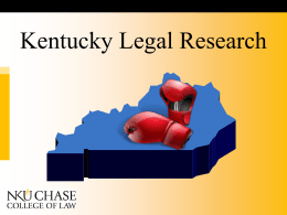 Kentucky Legal Research Web