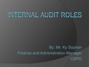 Mr. Ky Sophan_Internal Audit Roles
