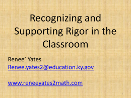 Rigor in the Classroom