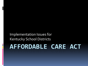 2F—Affordable Care Act KASBO fall 2013
