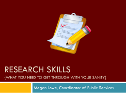 Research skills {What you need to get through it with your sanity}