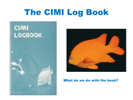 The CIMI Log Book