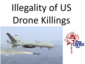 Illegality of Drone Killings by US