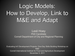 presentation by Lesli Hoey - Cornell International Institute for Food