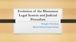 Evolution of Bhutanese Legal System