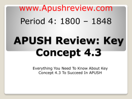 APUSH-Review-Key-Concept-4.3