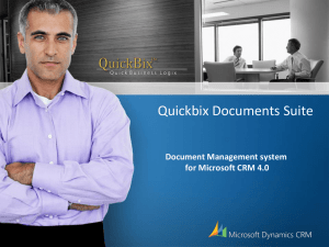 Quickbix Documents Suite for Microsoft CRM 4.0