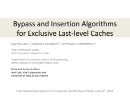 Bypass and Insertion Algorithms for Exclusive Last