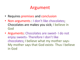 Argument - Philosophy @ Abhinav