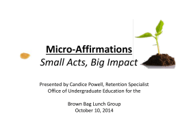 Micro-Affirmations Small Acts, Big Impact