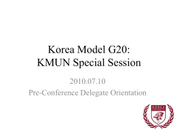 Korea Model G20: KMUN Special Session