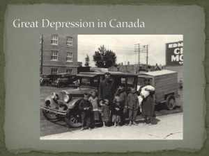 Canada Great Depression