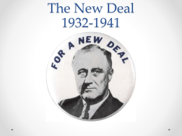 New Deal notes