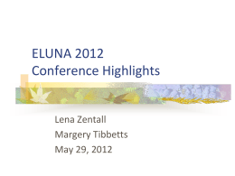 ELUNA 2012 Conference Highlights