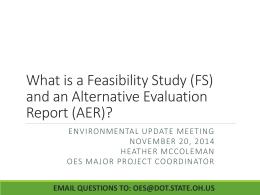 (FS) and an Alternative Evaluation Report (AER)?