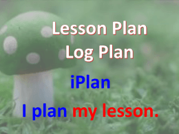 Lesson Plan Log Plan