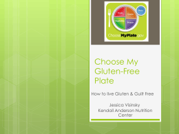 Choose My Gluten-Free Plate