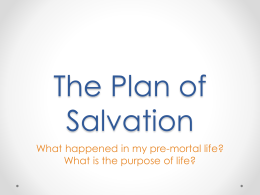 What is the plan of salvation? What happened in my premortal life