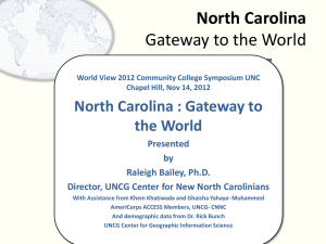 North Carolina - The Center for New North Carolinians