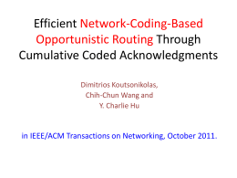 Efficient Network-Coding-Based Opportunistic Routing