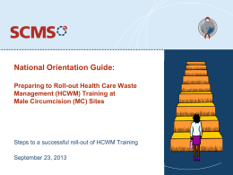 National Orientation Guide Training Roll-out (PPT)