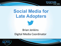 Social Media for Late Adopters: How to Use Facebook and Twitter