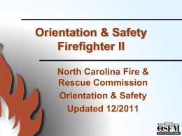 Orientation & Safety I - North Carolina Department of Insurance