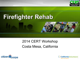 CERT FF REHAB - California Volunteers