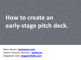 Early Stage Pitch Deck Tutorial