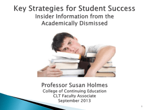 Key Strategies for Student Success