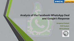 FB-WhatsApp Deal Analysis_Anupama