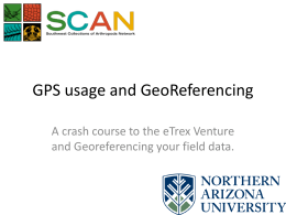 A crash course to the eTrex Venture and Georeferencing