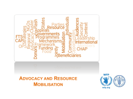 3.1 Advocacy and Resource Mobilisation