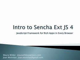Introduction to Ext JS 4 slides