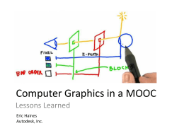 Computer Graphics in a MOOC: Lessons Learned