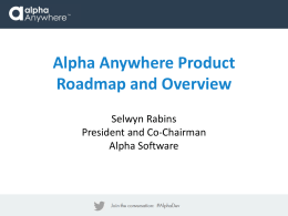 Roadmap () - Alpha Software