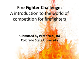 The Firefighter Combat Challenge