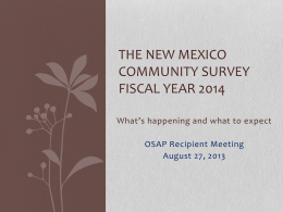 NM Community Survey 2014