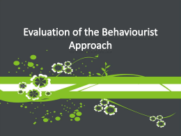 behaviourist evaluation ppt