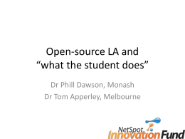 Open-source LA and *what the student does*