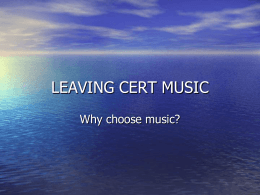 Music - CareersPortal.ie