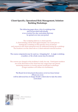 Client-Specific, Operational Risk Management