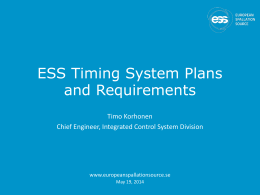ESS Timing System Plans and Requirements