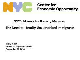 Presentation - The Center for Migration Studies of New York (CMS)