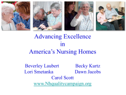 Advancing Excellence Overview for LTC Ombudsman