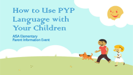 PYP Attitudes in Child